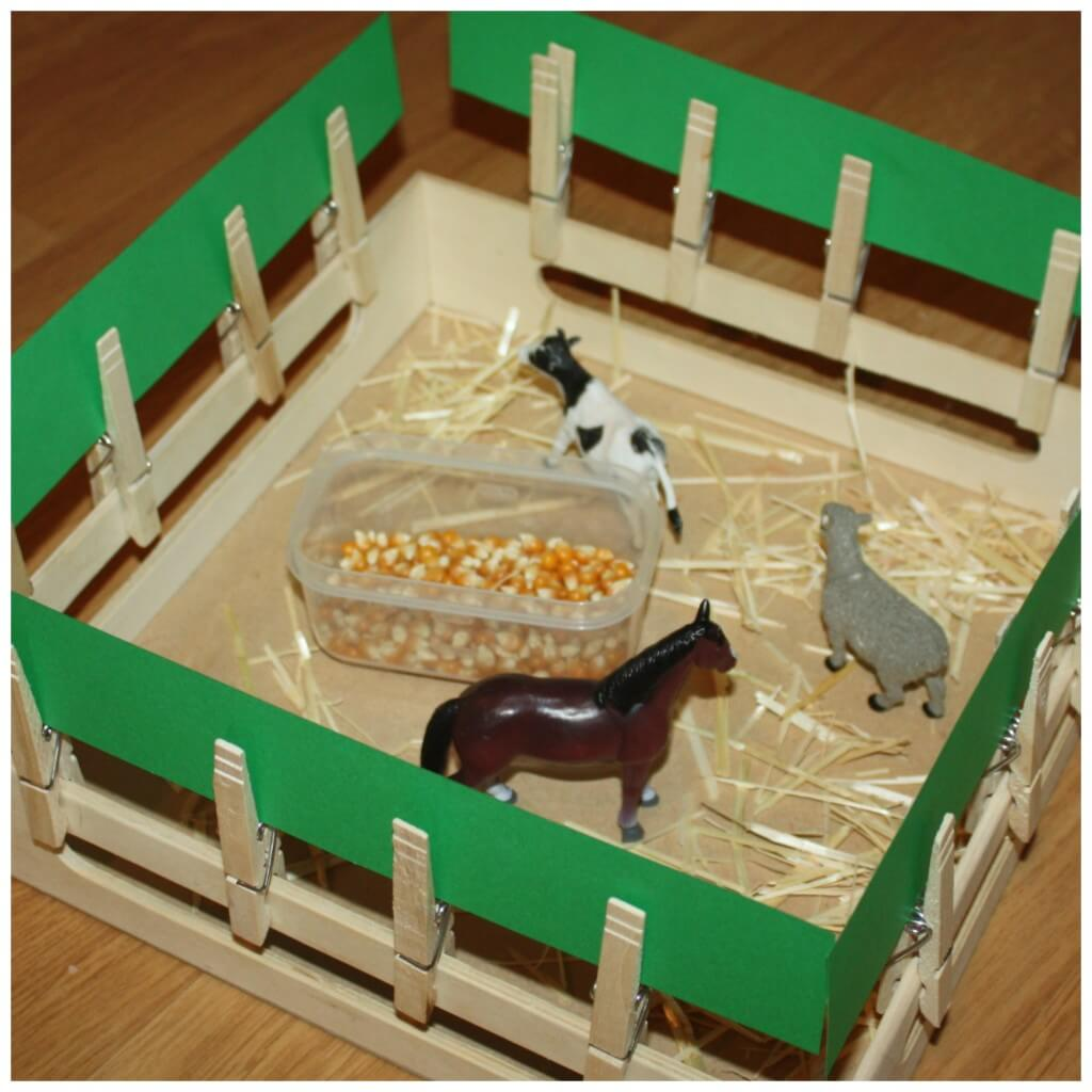 Farm Activities Fence And Stall Building Fine Motor Activity And Play