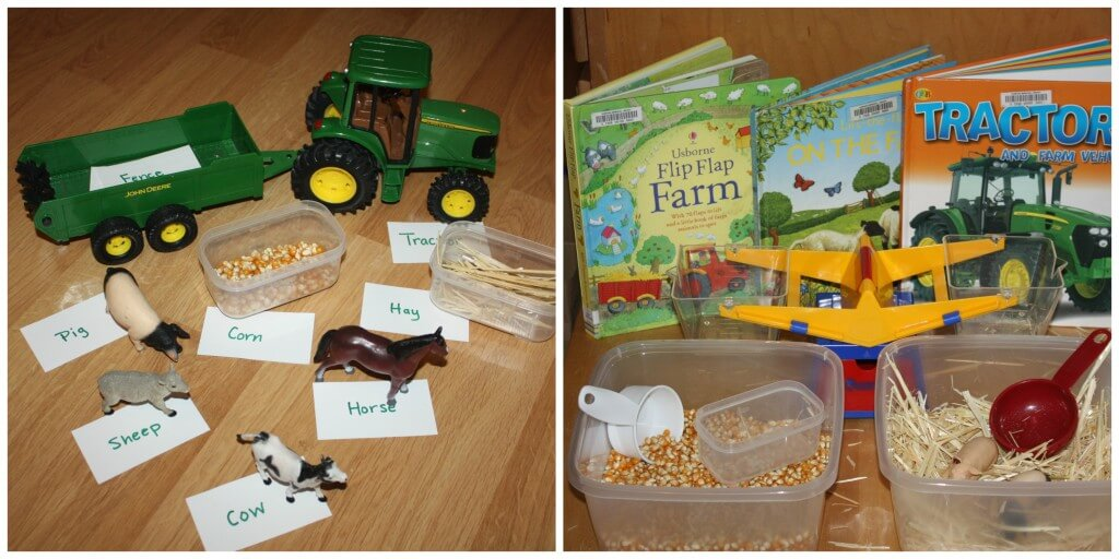 Farm Activities Table Literacy Books Vocabulary