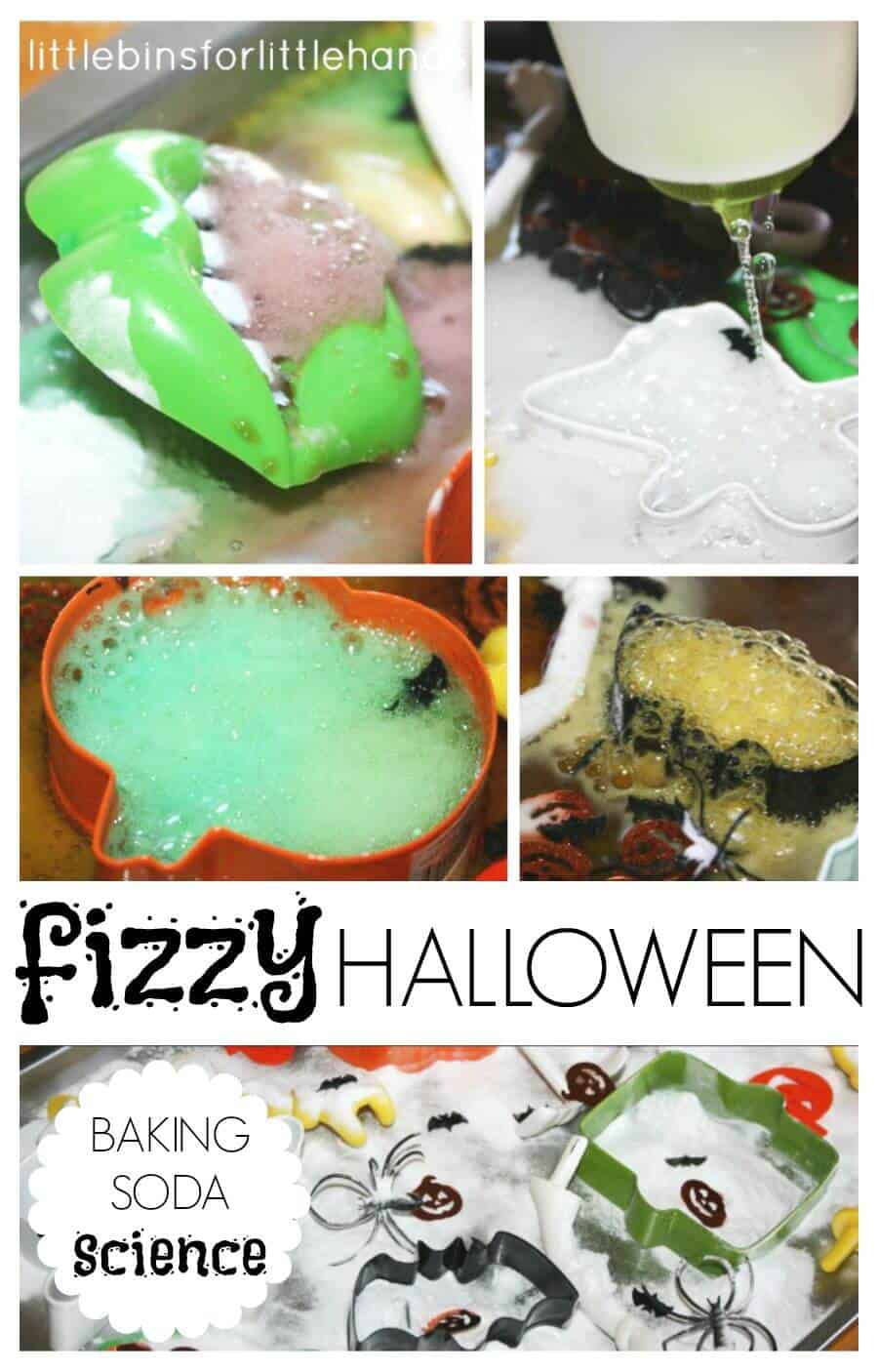 Fizzy halloween Science Baking Soda Vinegar Halloween Activity Experiment