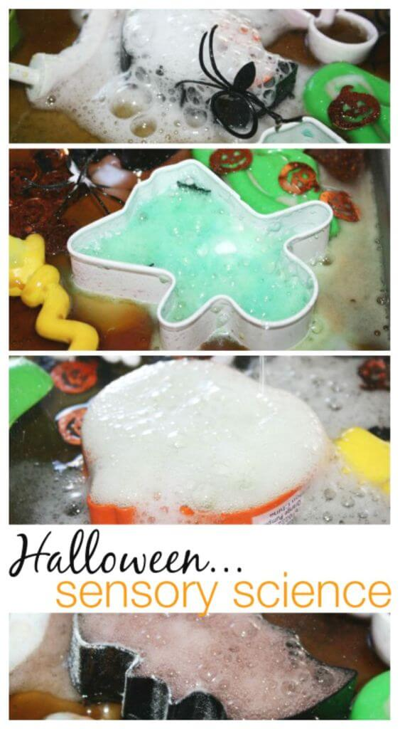 Fizzy halloween Science baking Soda Vinegar Cookie Cutter Activity