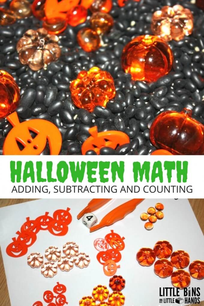Halloween Math Sensory Bin