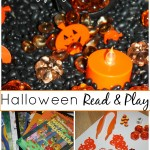 Halloween Sensory Bin And Book Play