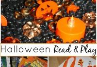 Halloween Sensory Bin And Book Play