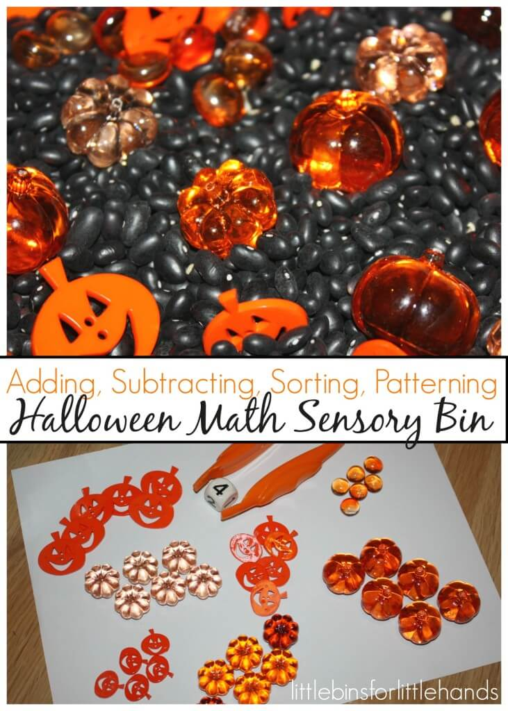 Halloween Sensory Bin Math Skills And Play