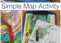 Map Activity line drawing fine motor skills practice