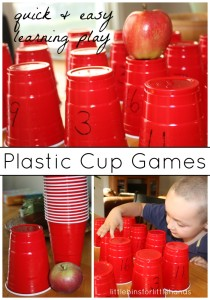 Plastic Cup Learning Games For Kids Quick And Easy Play