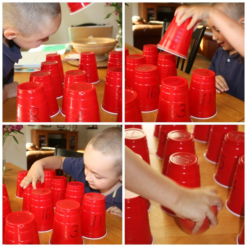 Plastic cup learning games number recognition play