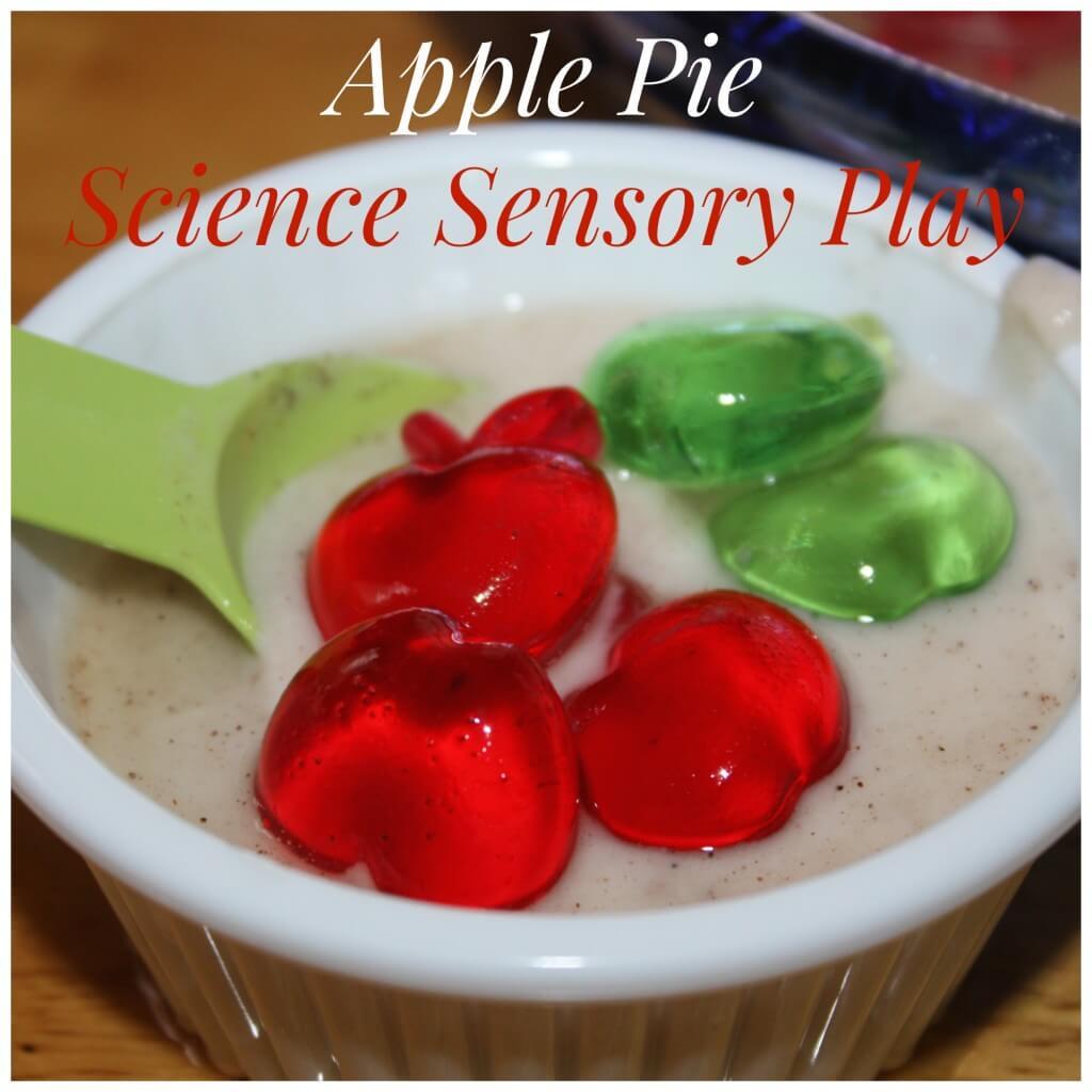 apple pie science sensory play