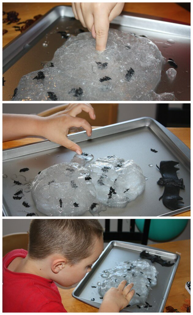 bat easy slime sensory play exploring slime play