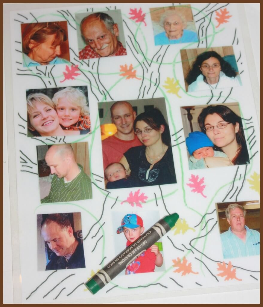 family tree activity pre-writing activity play and learning