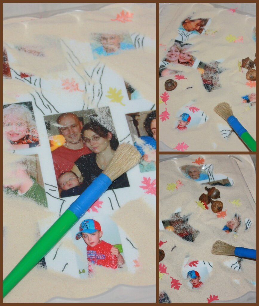 family tree activity sensory play