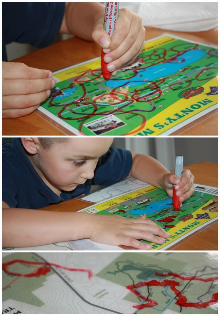 map activity practicing tracing circling and drawing
