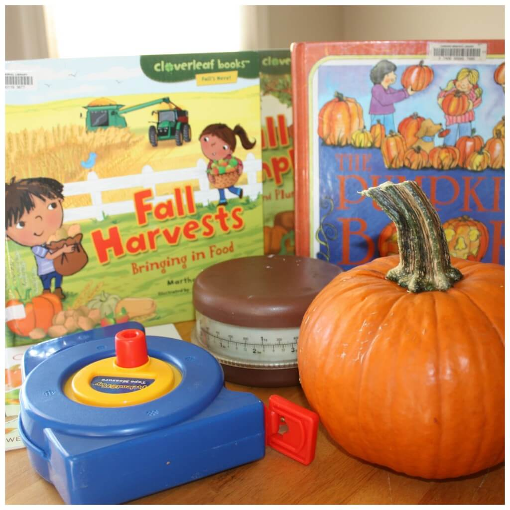 pumpkin activities for preschool table set up weighing measuring reading books