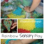 rainbow sensory play