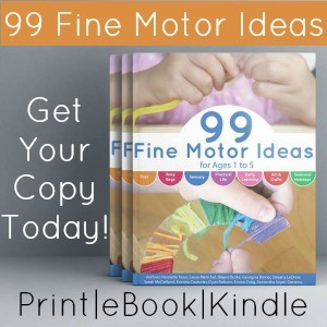 99 Fine Motor Activities Side Bar Ad 3D book