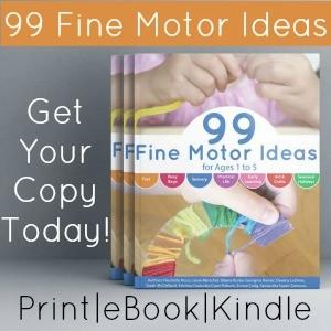 99 Fine Motor Activities Side Bar Ad 3D book