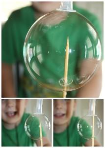 Bubble Science Skewer through bubble