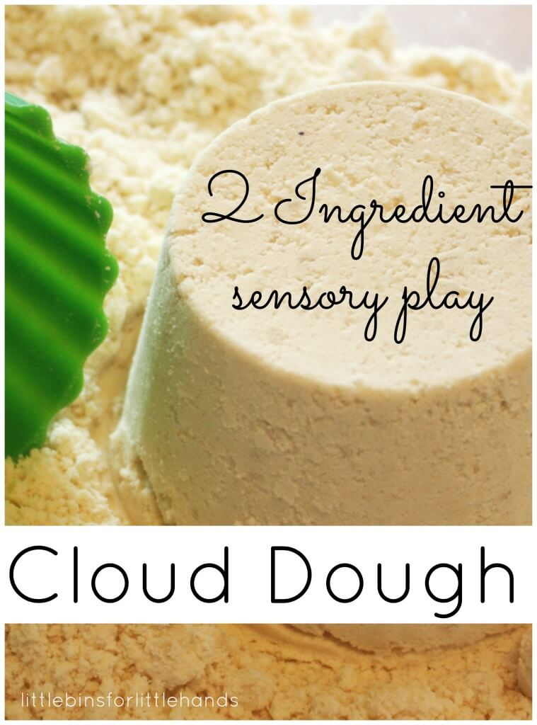 Homemade Cloud Dough 2 Ingredient Sensory Play