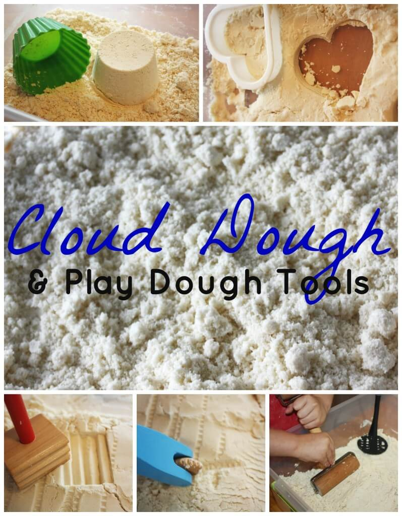 Cloud Dough Play Dough Tools