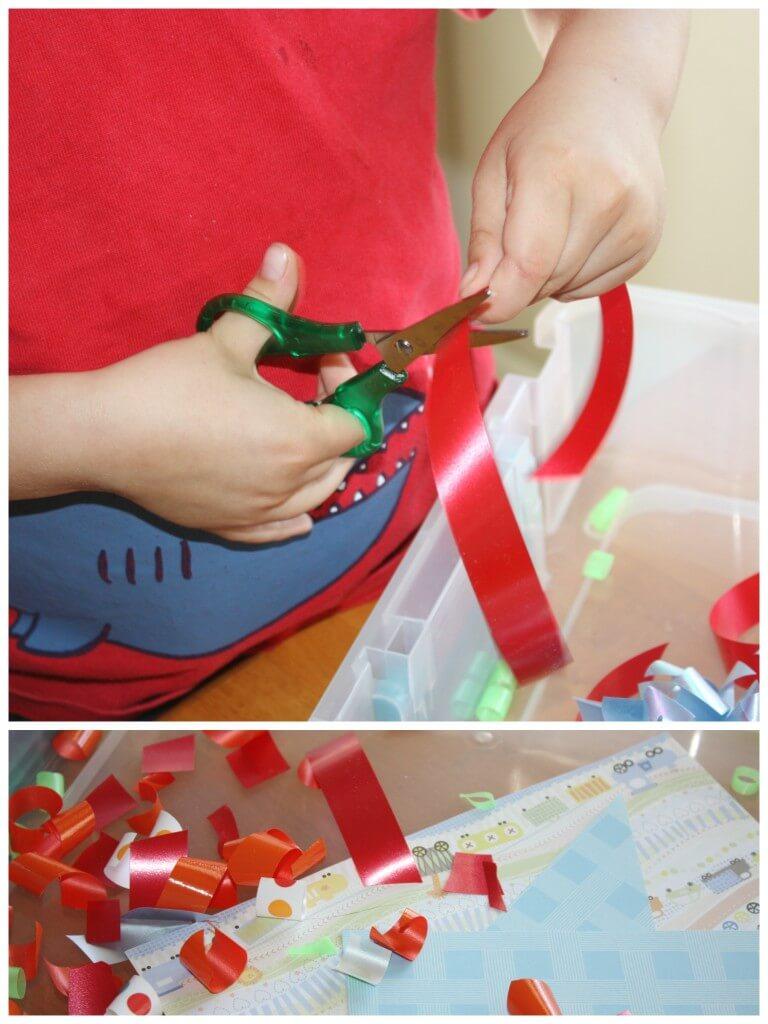 Cutting Practice Scissor Activities Red Ribbon Cutting