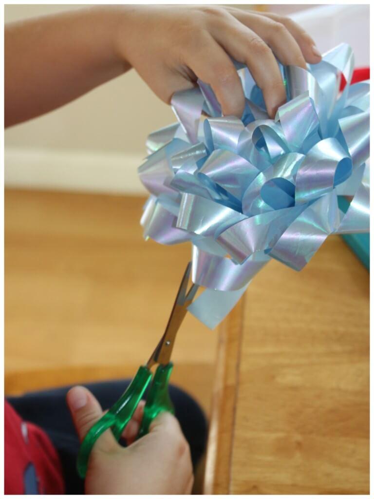 Cutting Practice Scissor Skills Bow