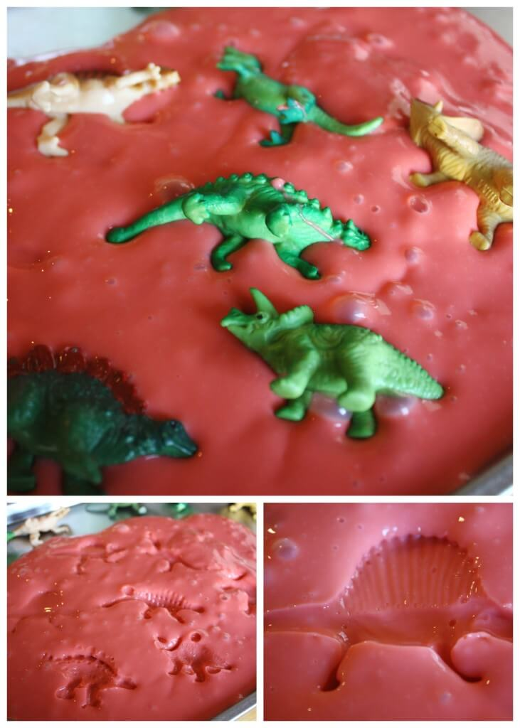 Dinosaur Activity Sensory Play Slime Fossils