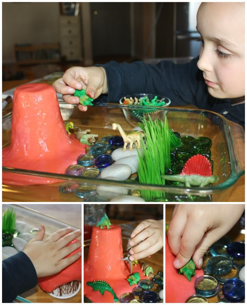 Dinosaur Activity Sensory Play With Slime And Dinosaurs