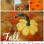 Fall Bubbling Slime Sensory Play