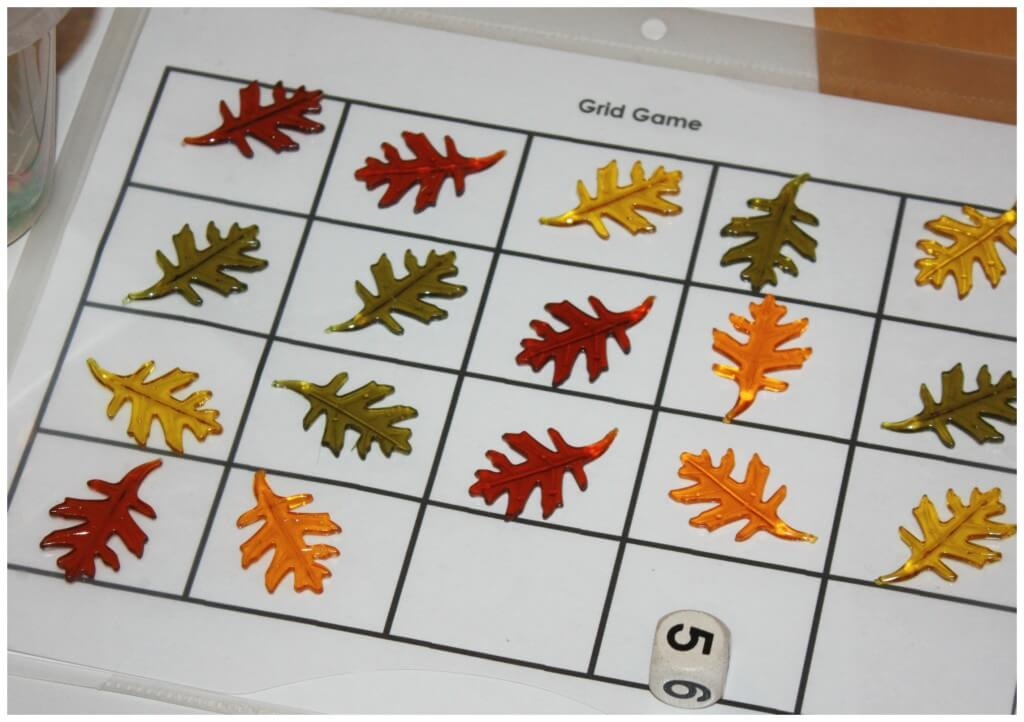 Fall Counting Game Play