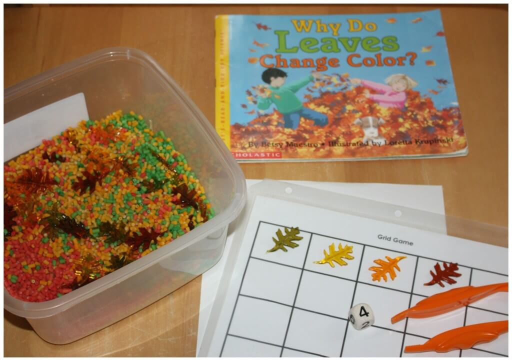 Fall Counting Game Set Up