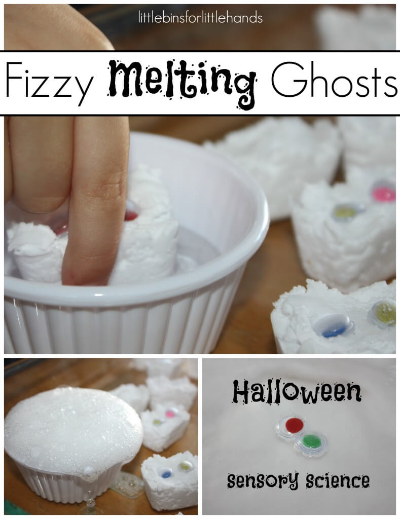 Fizzy Ghosts Baking Soda Science Sensory Activity