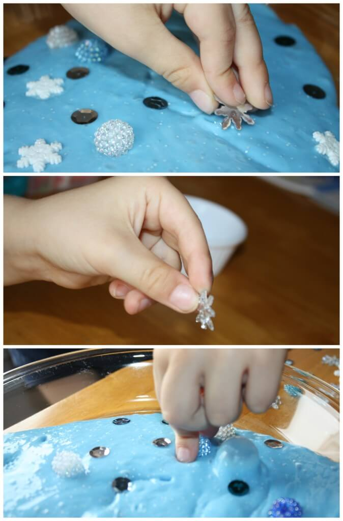 Frozen Winter Theme Easy Slime Decorating