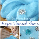 Frozen Winter quick slime sensory play