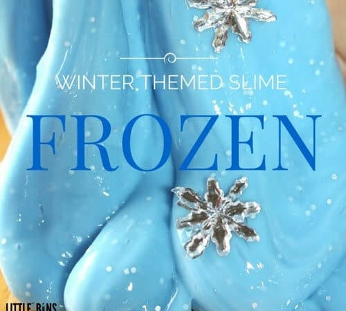 Frozen Theme Easy Slime Recipe