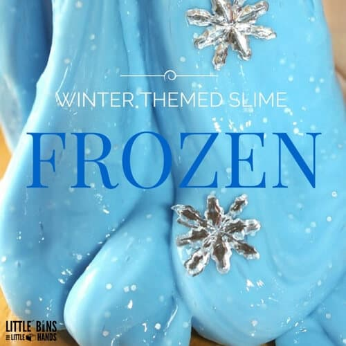 Frozen Theme Easy Slime for Winter Sensory Play | 500 x 500 jpeg 51kB