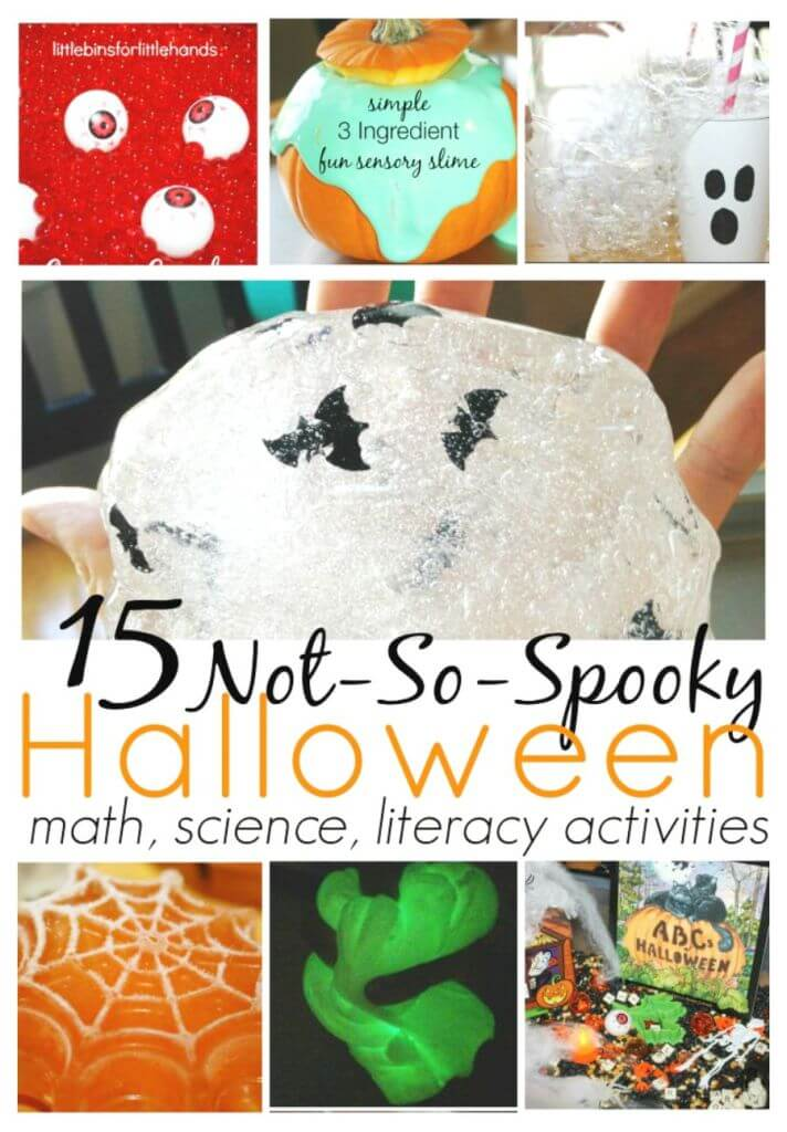 Halloween Activities for Science, math, sensory play, literacy and  fine motor skills Kids halloween Ideas