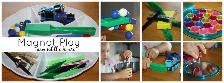 Science activities magnet play around the house
