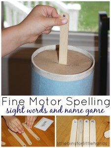 Sight Words and Name Game 99 Fine Motor Activities