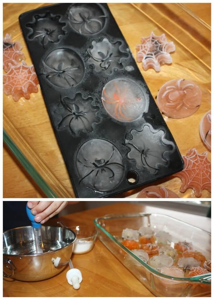 Spider Ice Science Melt Set Up