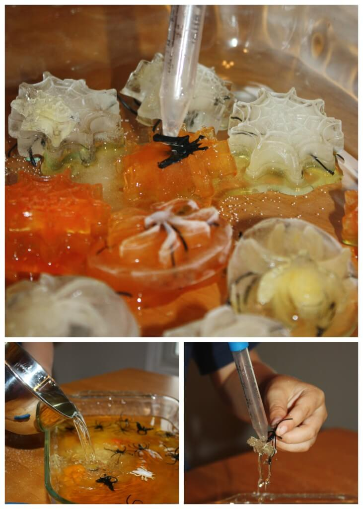 Spider Ice Science Sensory play Melting Spiders