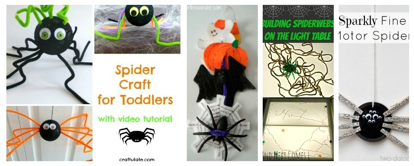 Spider fine motor activities for hands on learning