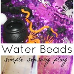 Water Beads Halloween Sensory Play