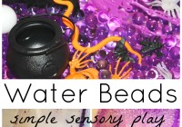 Water Beads Halloween Sensory Play