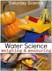 Weighing Measuring Water Science Liquids Solids Sensory Activity