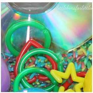 color rainbow sensory play with cd