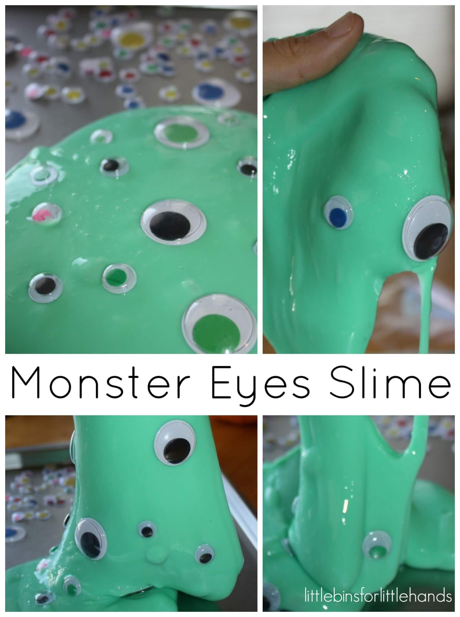 Easy Slime Recipe For Halloween Slime In Pumpkin