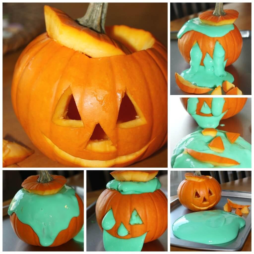 easy slime halloween slime in a pumpkin jack o lantern