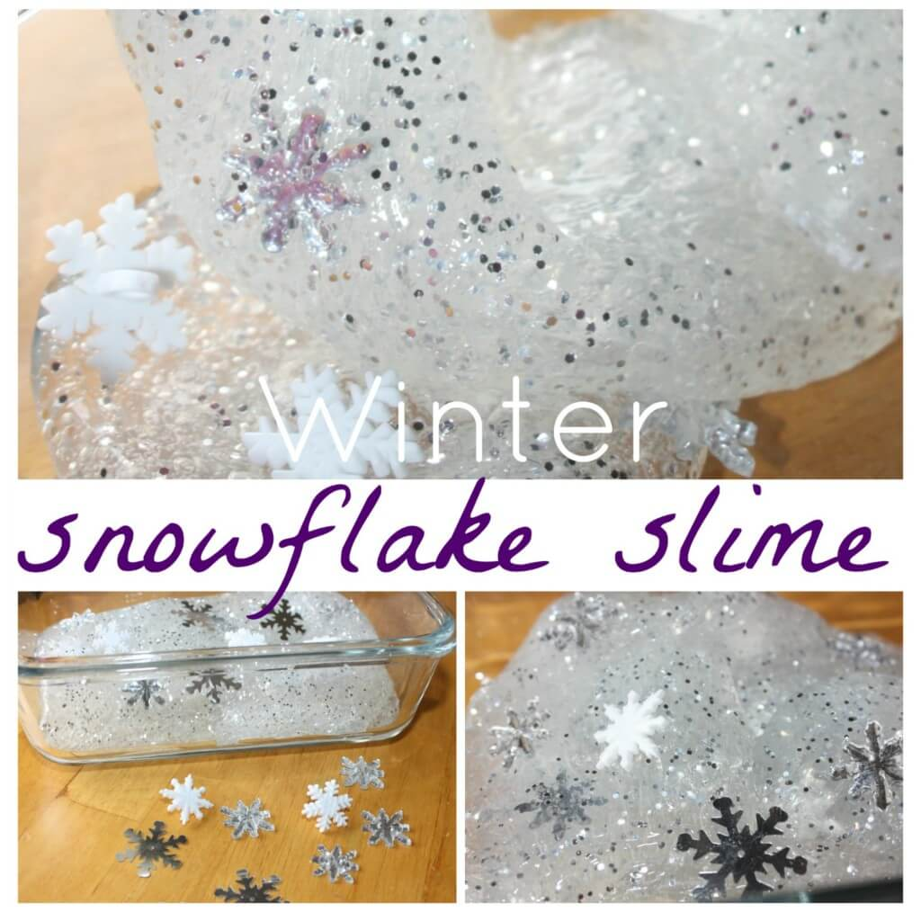 winter snowflake slime