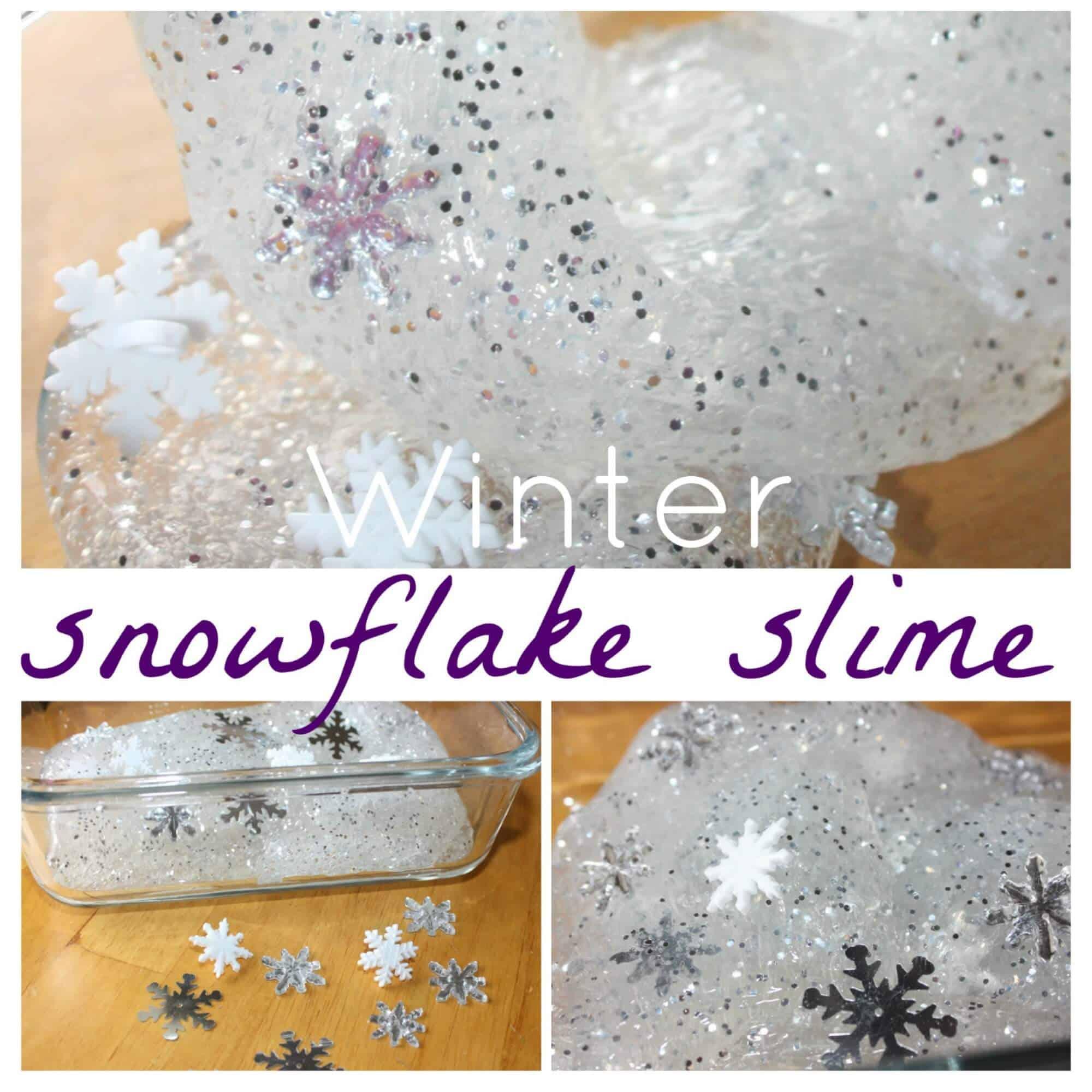 Winter Snowflake Homemade Slime