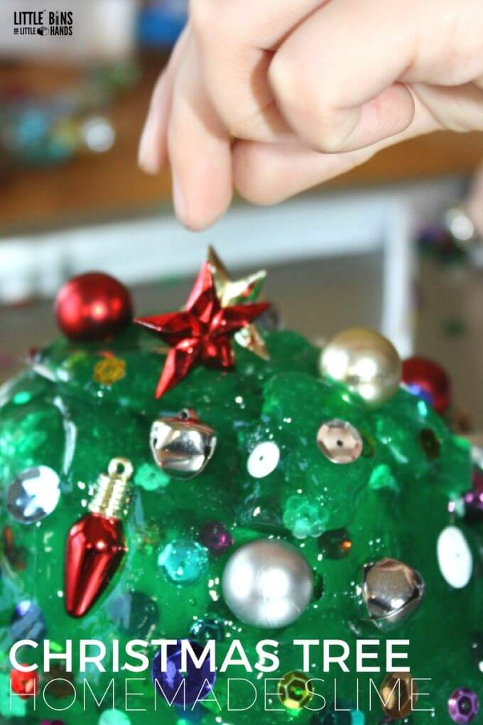 Christmas Tree Homemade Slime Science Activity